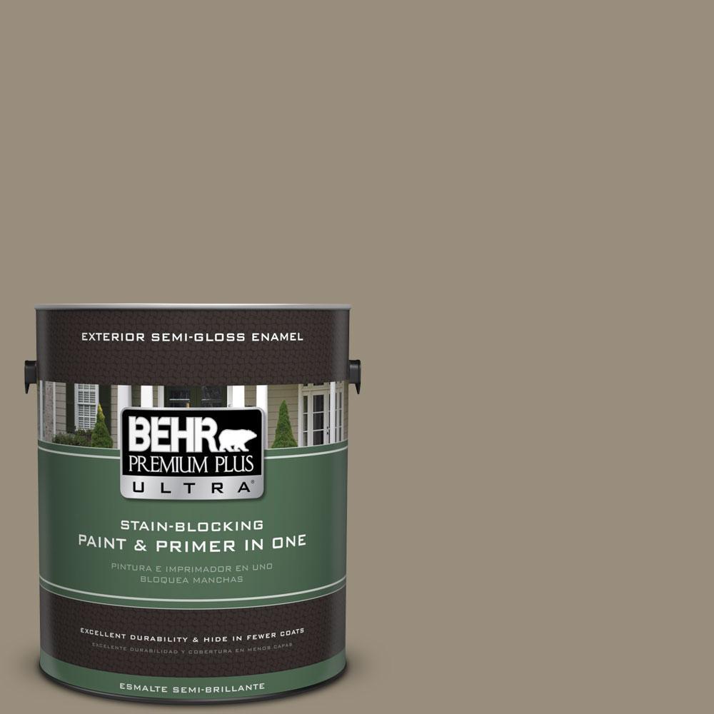 BEHR Premium Plus Ultra 1-gal. #ECC-43-2 Bridle Path Semi-Gloss Enamel Exterior Paint
