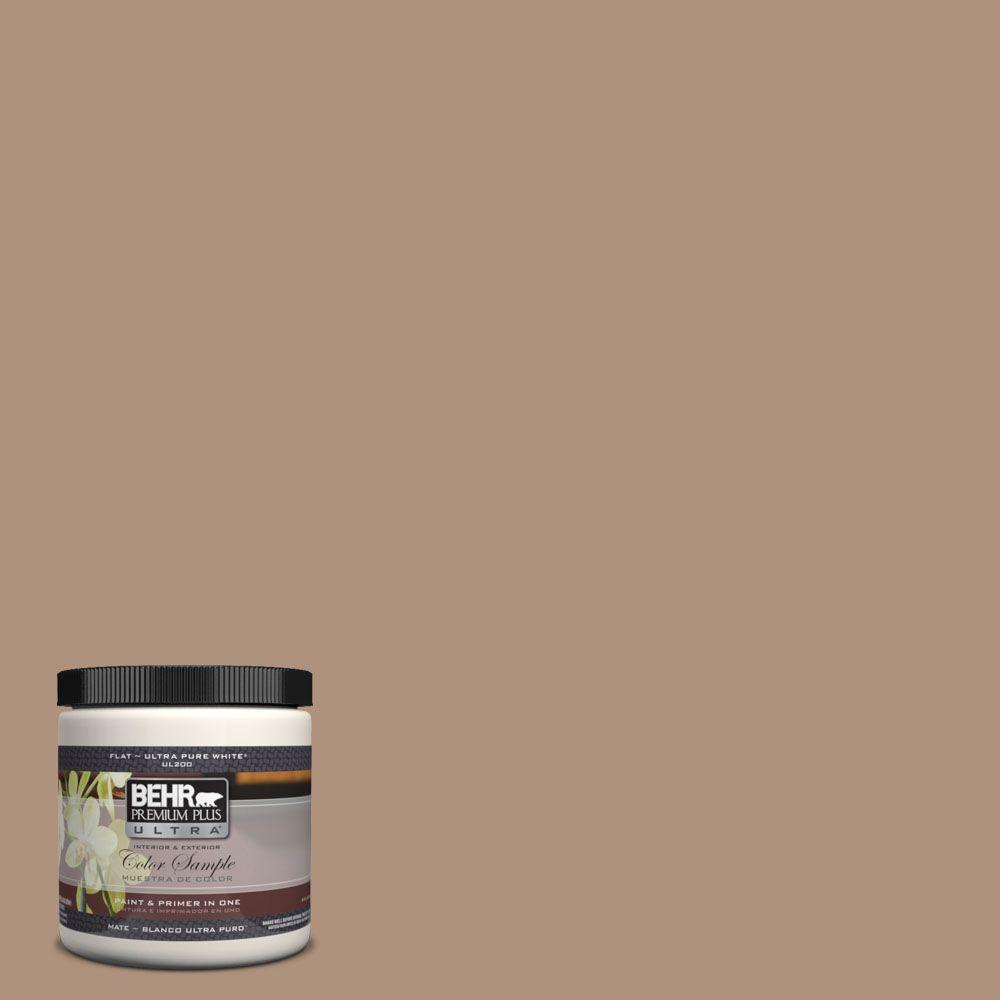 BEHR Premium Plus Ultra 8 oz. #UL140-8 Soft Chamois Interior/Exterior Paint Sample