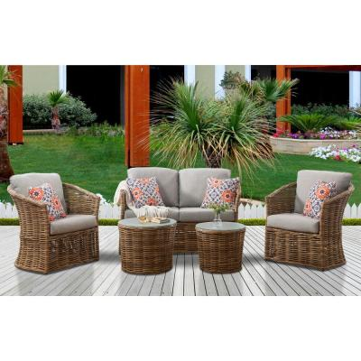 Wicker Patio Conversation Sets Outdoor Lounge Furniture The Home Depot