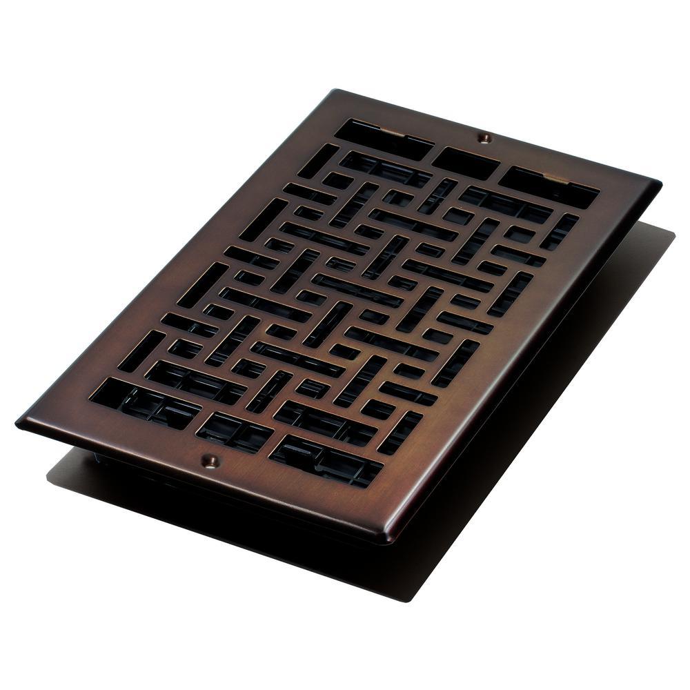 6 in. x 10 in. Oriental Bronze Wall Register