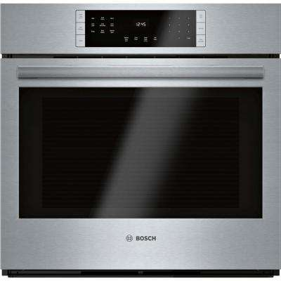800 Series 30 in. Single Electric Wall Oven with European Convection Self-Cleaning in Black