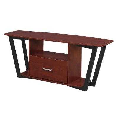 Graystone 60 in. Cherry and Black TV Stand