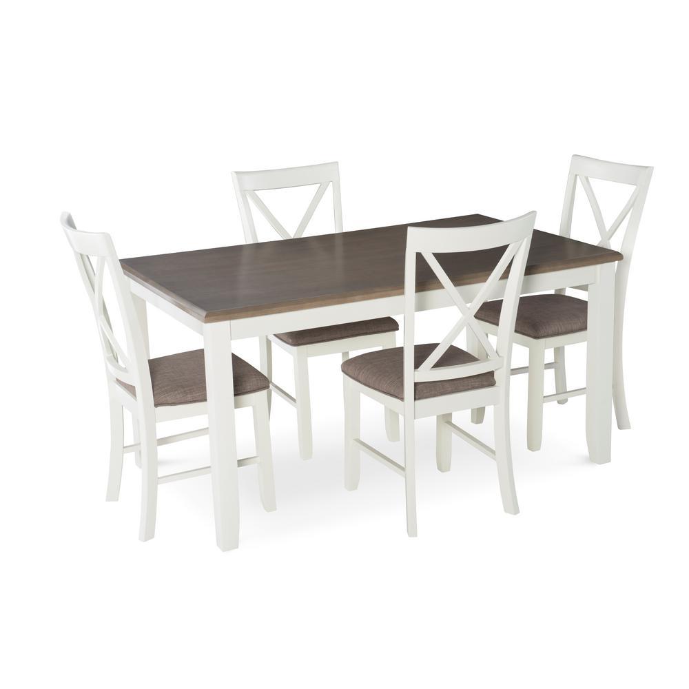 Jane 5-Piece White Dining Set