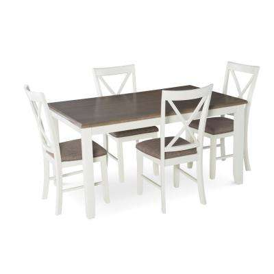 Jane 5-Piece White Dining Set