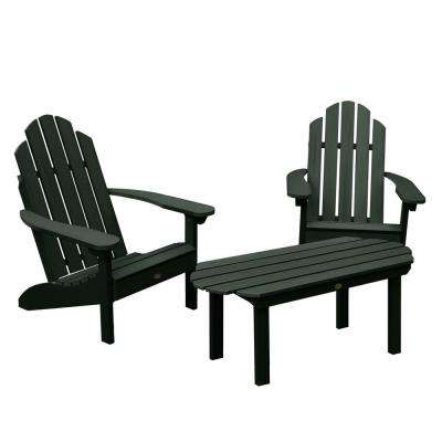 Classic Westport Charleston Green 3-Piece Recycled Plastic Outdoor Conversation Set
