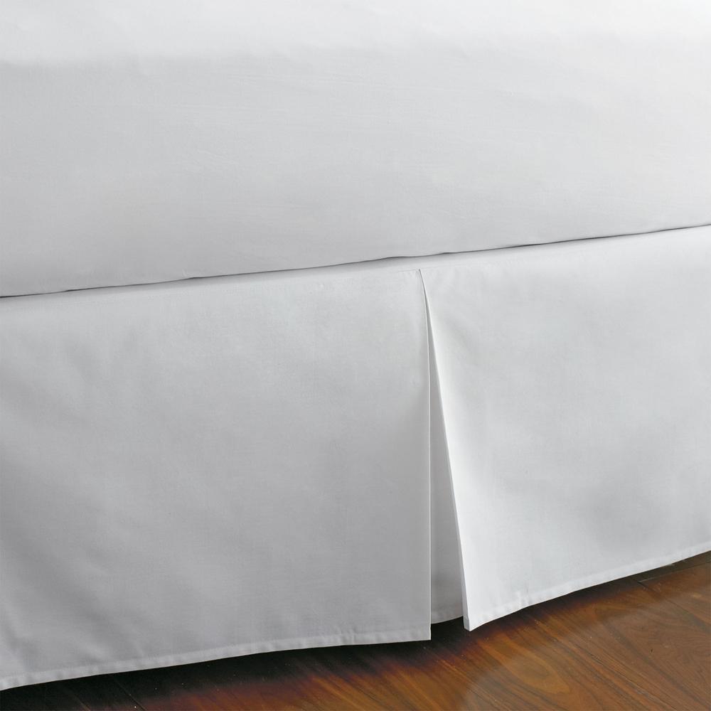 DESIGNER BOTTOM RUFFLE SPLIT CORNER BED SKIRT 1000TC EGYPTIAN COTTON QUEEN SOLID