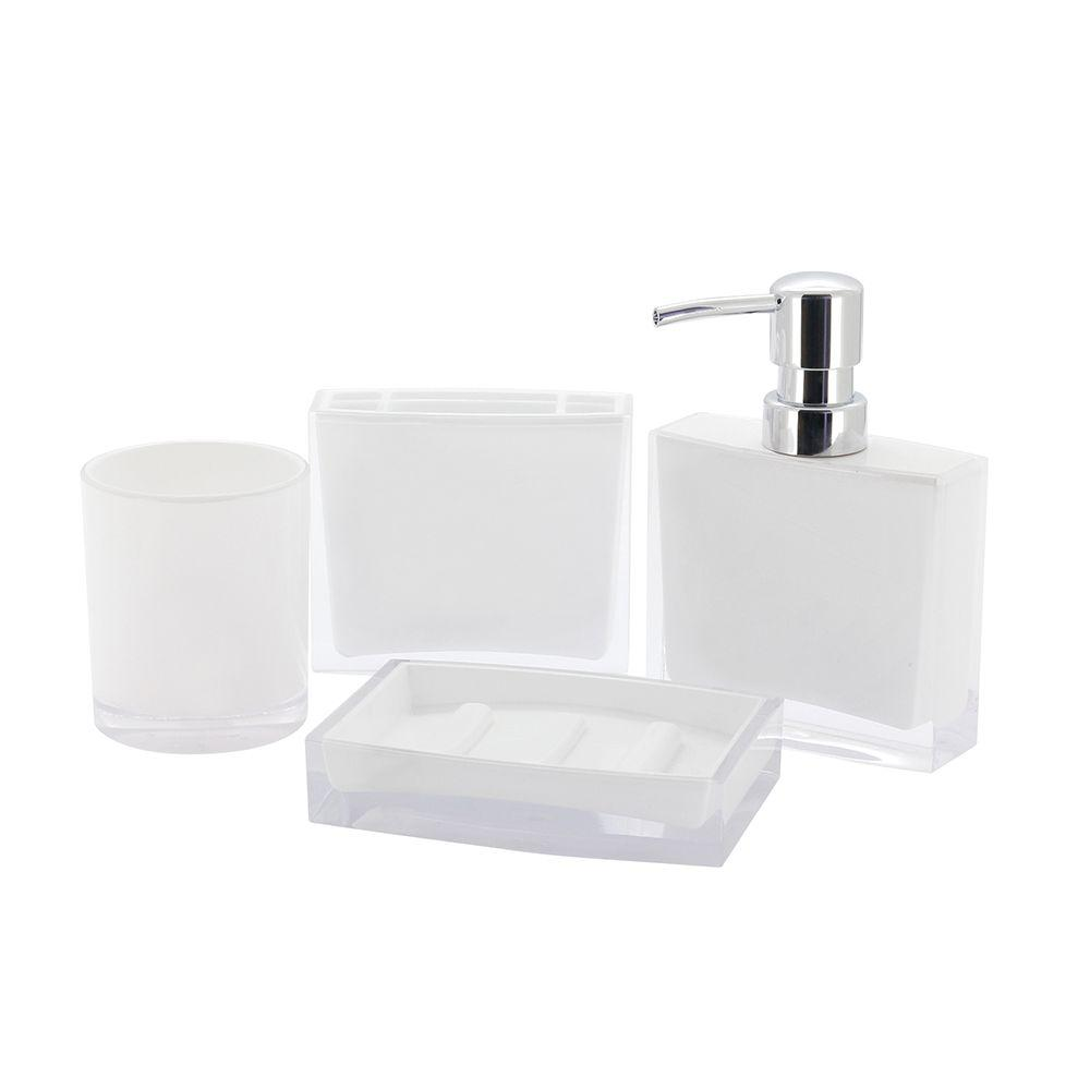 Kingston brass contemporary 4 piece bath accessory set in - Modern bathroom accessories sets ...