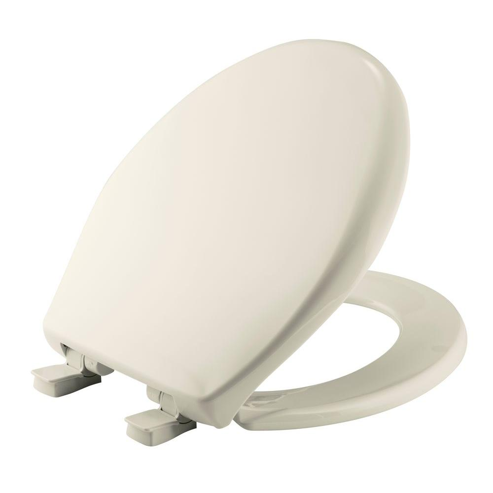 Affinity Round Closed Front Toilet Seat in Biscuit