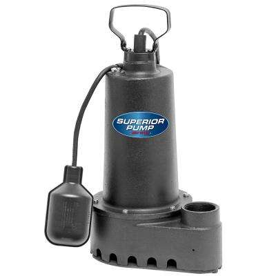 1/3 HP Submersible Cast Iron Sump Pump with Tethered Float Switch