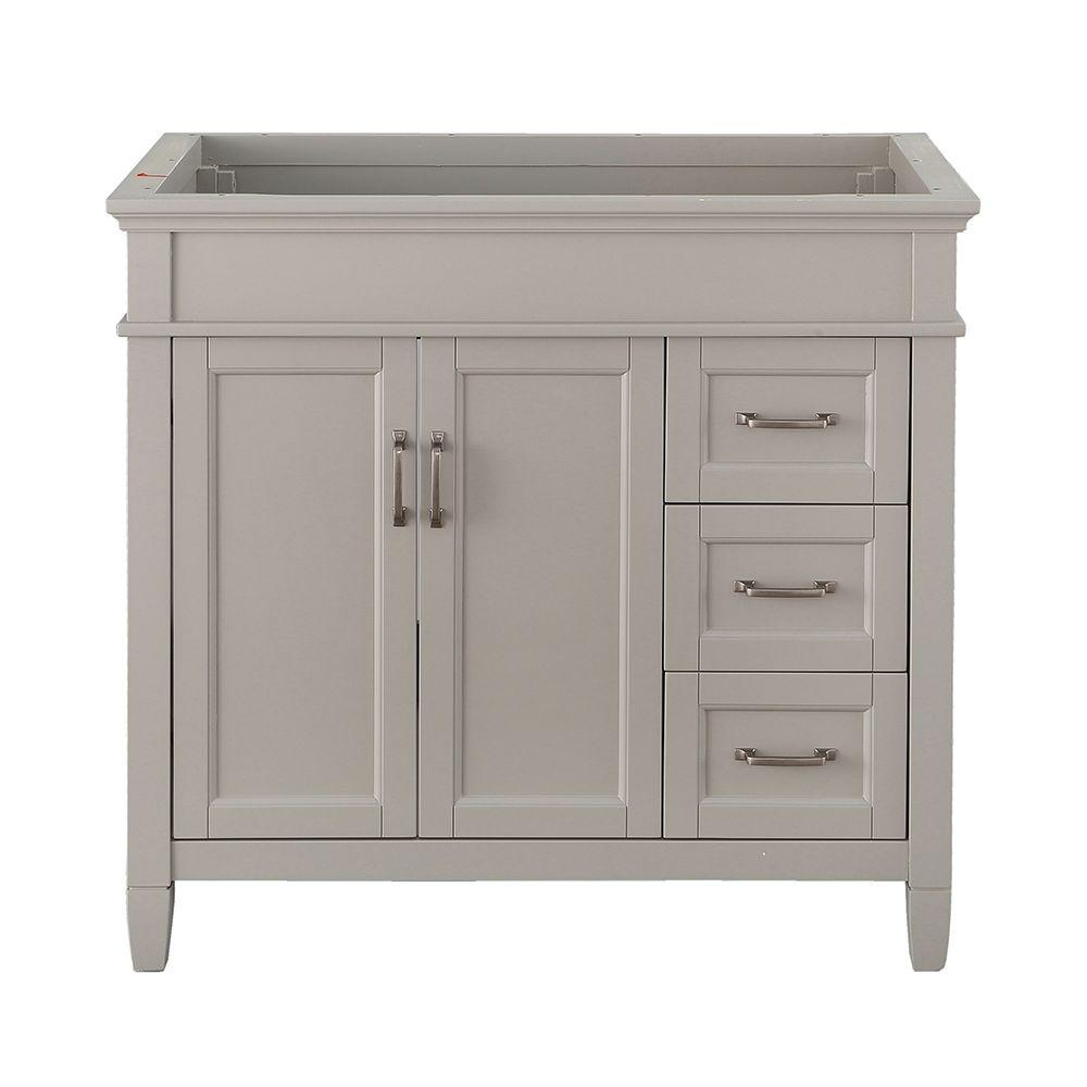 Captivating Home Decorators Collection Ashburn 36 In. W X 21.75 In. D Vanity Cabinet In  Grey ASGRA3621DR   The Home Depot
