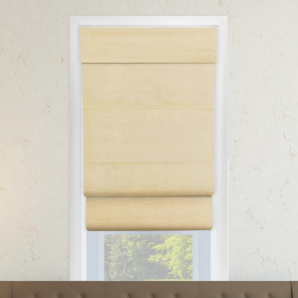 27 in. W x 64 in. L Cotton Sandstone Horizontal Fabric