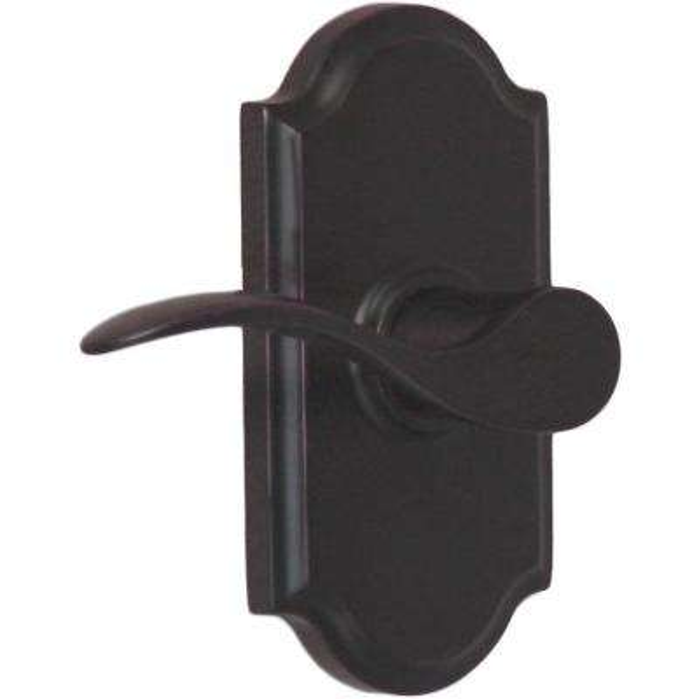 Elegance Oil-Rubbed Bronze Left-Hand Premiere Privacy Bed/Bath Bordeau Door Lever