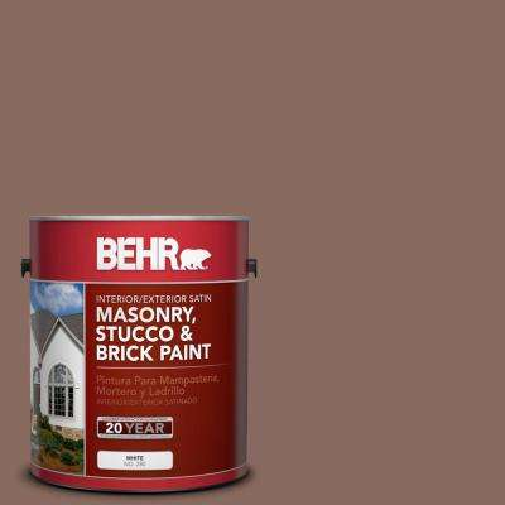 1 gal. #N150-5 French Truffle Satin Interior/Exterior Masonry, Stucco and Brick Paint