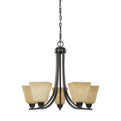 Parkfield 5-Light Flemish Bronze Chandelier with LED Bulbs