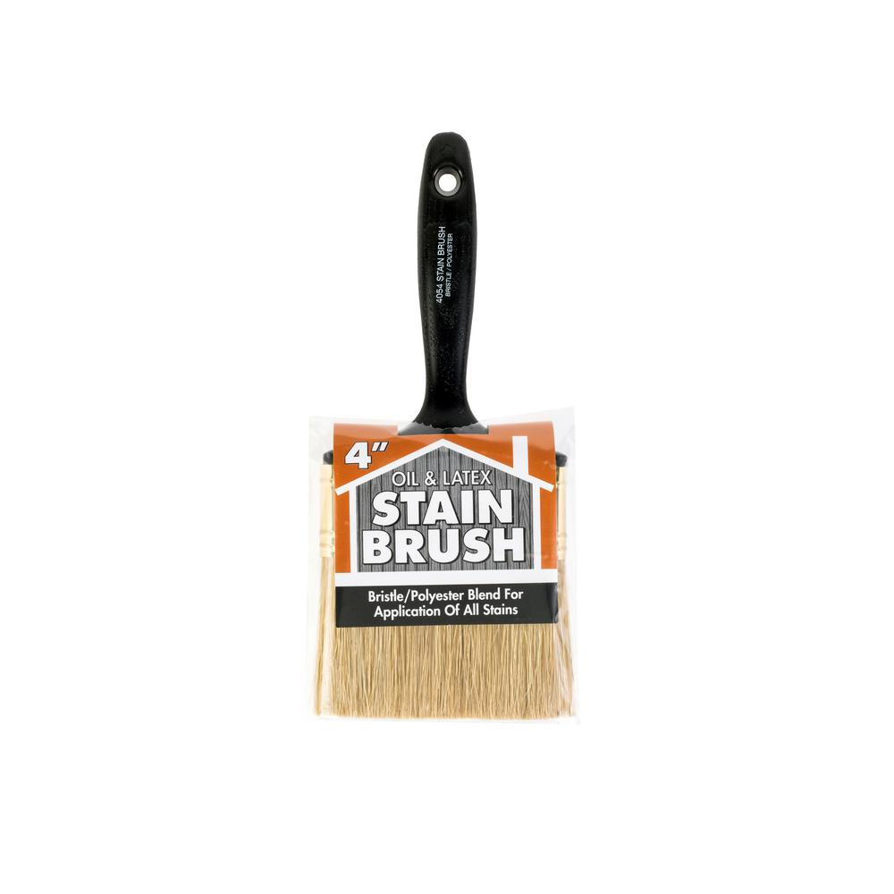 Wooster 4 in. Oil and Stain Polyester Bristle Brush