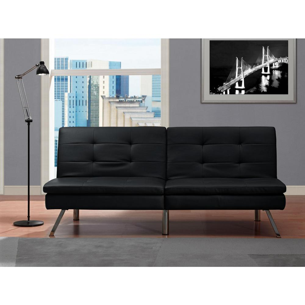 Sensational Chelsea Black Futon Machost Co Dining Chair Design Ideas Machostcouk
