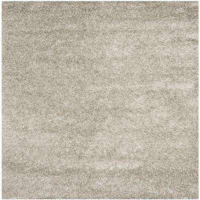 Monterey Shag Silver 7 ft. x 7 ft. Square Area Rug