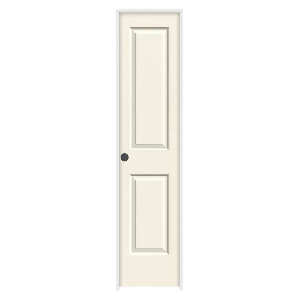 18 in. x 80 in. Cambridge Vanilla Painted Right-Hand Smooth Solid