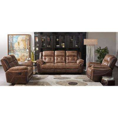 Hawk 3 Piece Brown Living Room Set