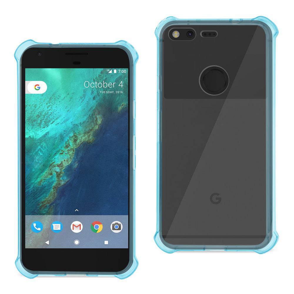 Google Pixel Air Cushion Case in Clear Navy