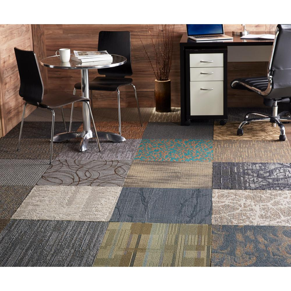 Trafficmaster Assorted Pattern Commercial Peel And Stick 24 In X 24 In Carpet Tile 10 Tiles Case