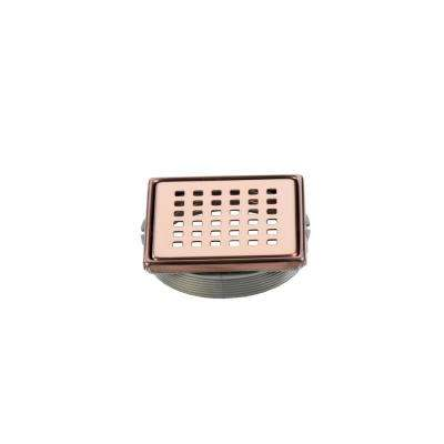 Tilux 4 in. x 4 in. Stainless Steel Adjustable Drain Cover in Bronze