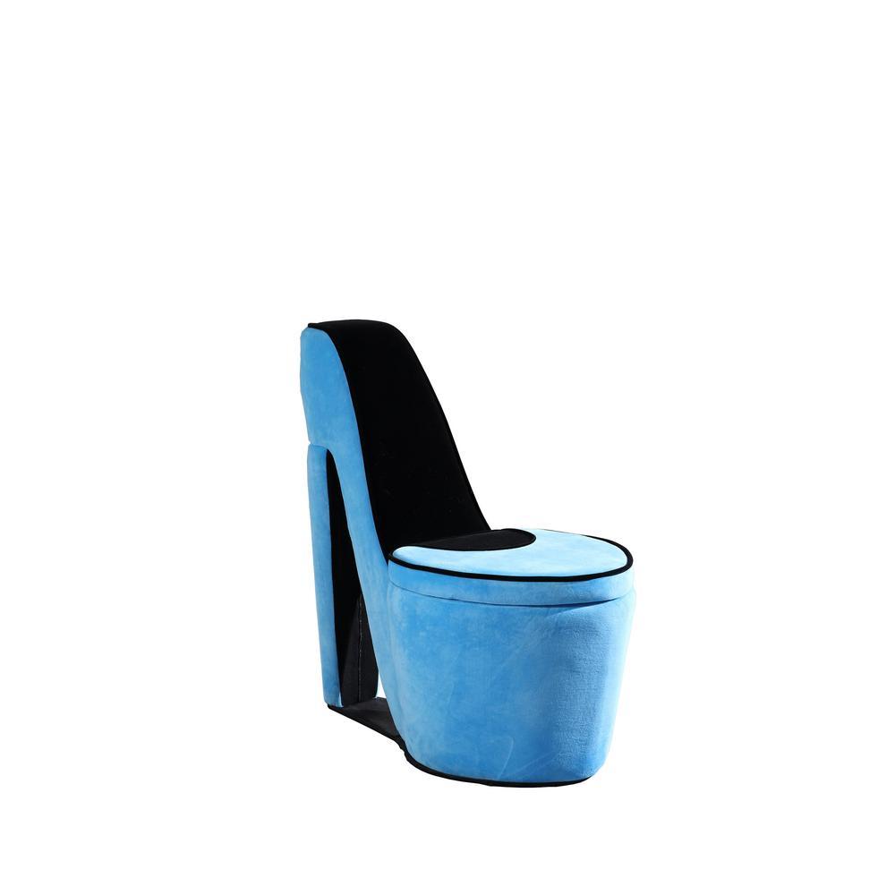 32.86 in. Azure Blue High Heel Storage Chair