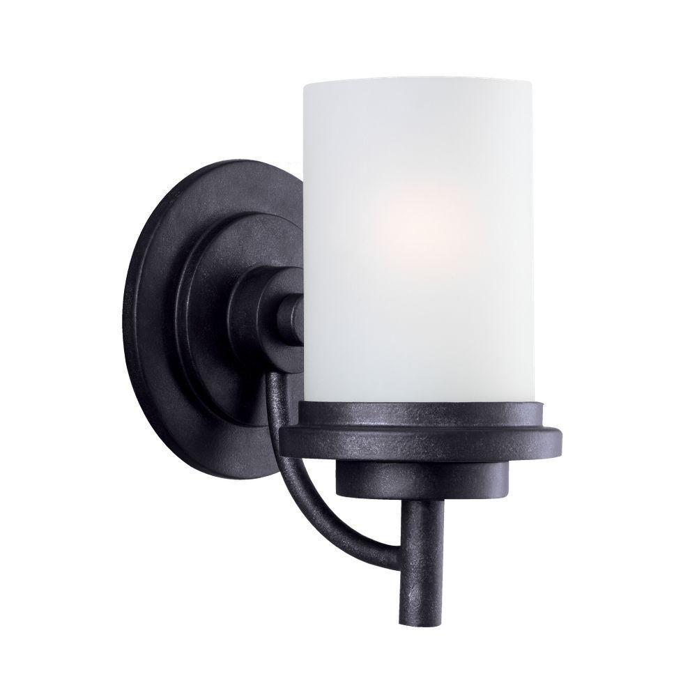 Sea Gull Lighting Winnetka 1-Light Blacksmith Sconce by Sea Gull Lighting