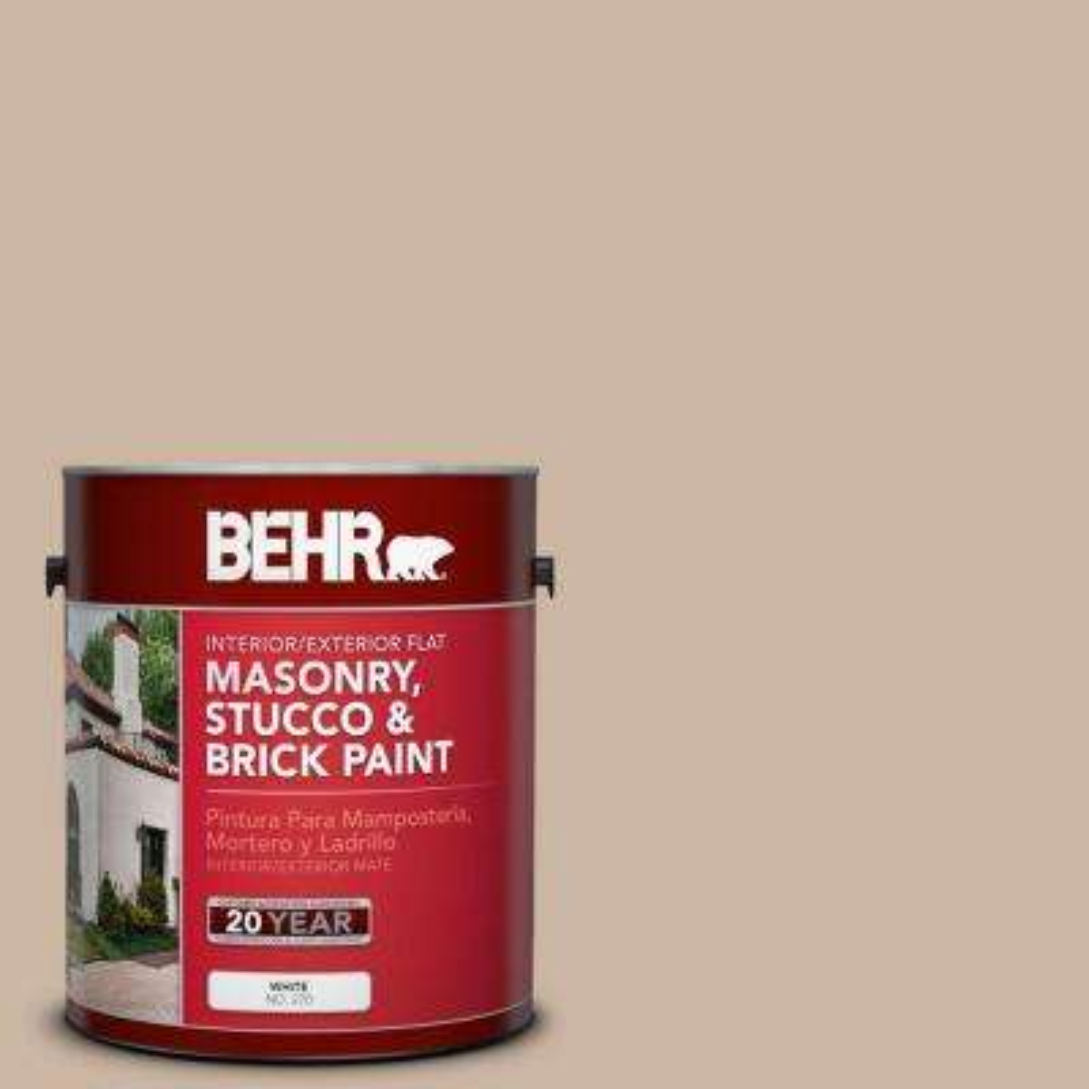 1-gal. #MS-09 Adobe Flat Interior/Exterior Masonry, Stucco and Brick Paint