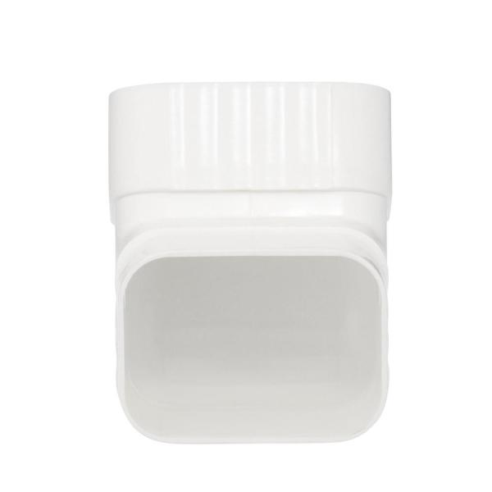 AMERIMAX HOME PRODUCTS 33065 2x3 Galvanized B Elbow White Fоur Расk, White