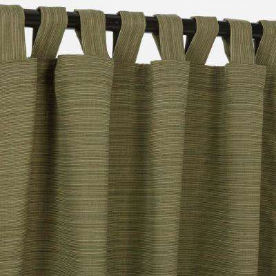 50 in. x 108 in. Outdoor Single Curtain with Tabs in Dupione Laurel