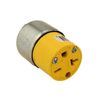 20 Amp 250-Volt Armored Grounding Connector, Steel