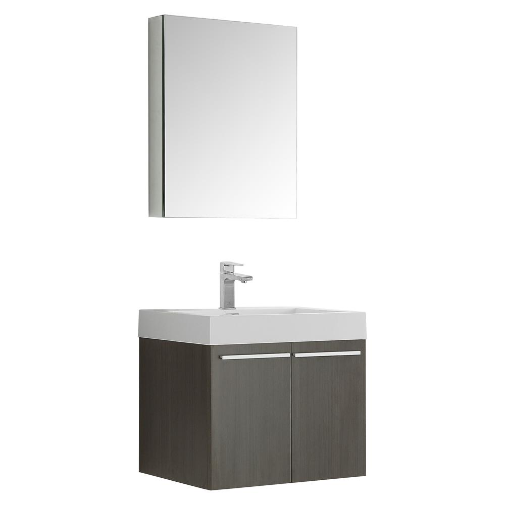 Alto 23 in. Vanity in Gray Oak with Acrylic Vanity Top