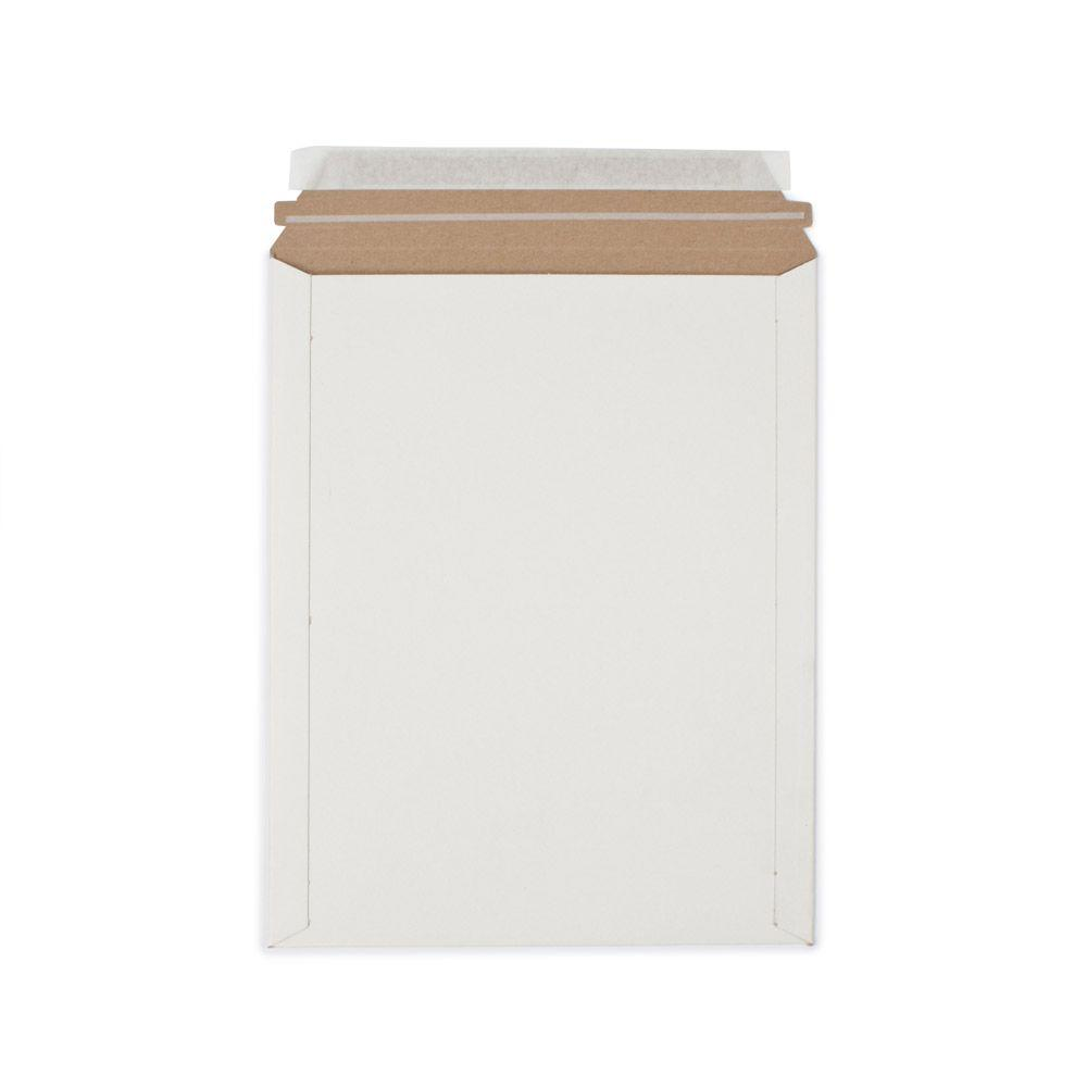 9.75 in. x 12.25 in. White Paperboard Stay Flat Mailers with