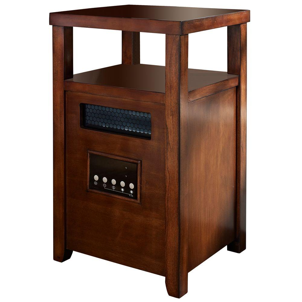Muskoka 1500-Watt Infrared Heater with Table Top - Burnished Pecan-DISCONTINUED
