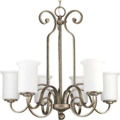 Stroll Collection 6-Light Pebbles Chandelier with Shade
