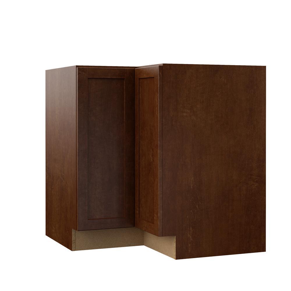 Soleste Assembled 33x34.5x20.25 in. Lazy Susan Corner Base Kitchen Cabinet in Spice