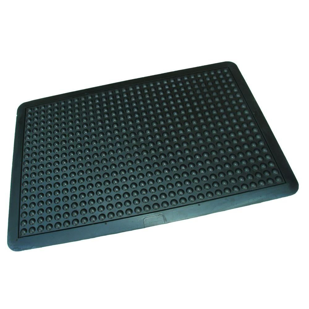 Rhino AntiFatigue Mats UltraDome Workstation In X In Black - Click together garage flooring