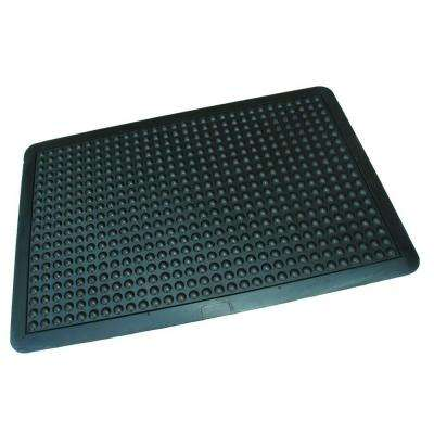 Ultra-Dome Workstation 24 in. x 36 in. Black Commercial Rubber Garage Flooring Mat