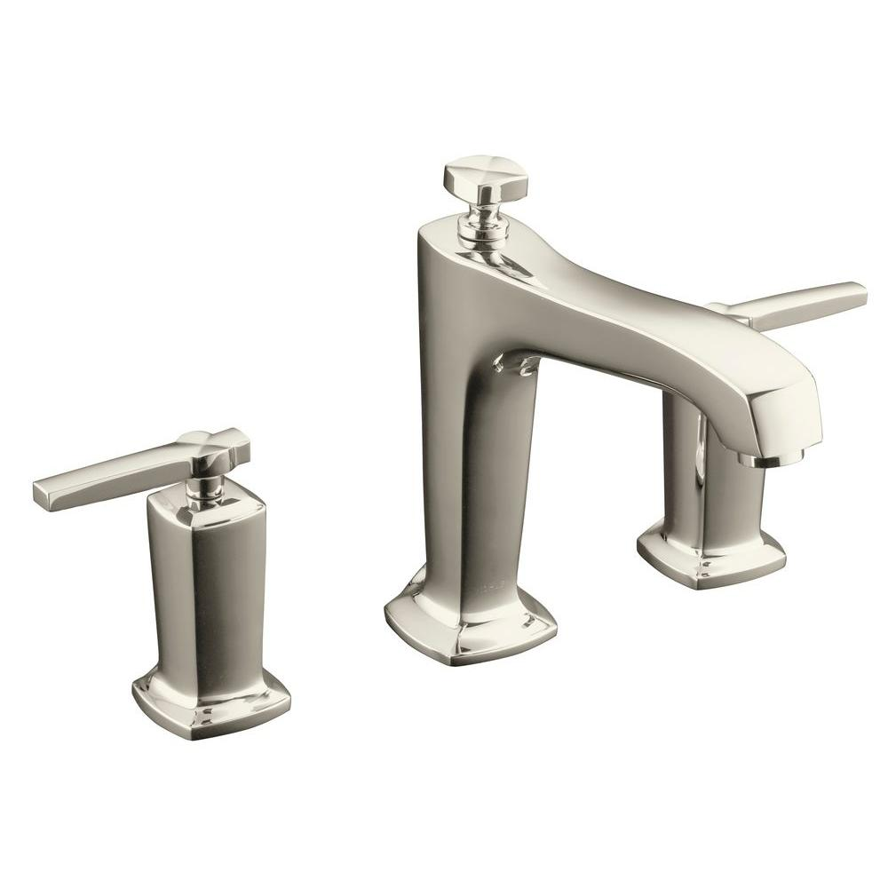 Margaux Deck-Mount 2-Handle High-Flow Bath Faucet Trim Kit in Vibrant Polished