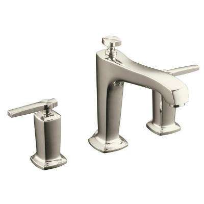 Margaux Deck-Mount 2-Handle High-Flow Bath Faucet Trim Kit in Vibrant Polished Nickel (Valve Not Included)