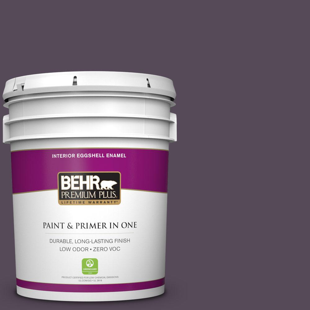 5 gal. #670F-7 Blackberry Wine Zero VOC Eggshell Enamel Interior Paint