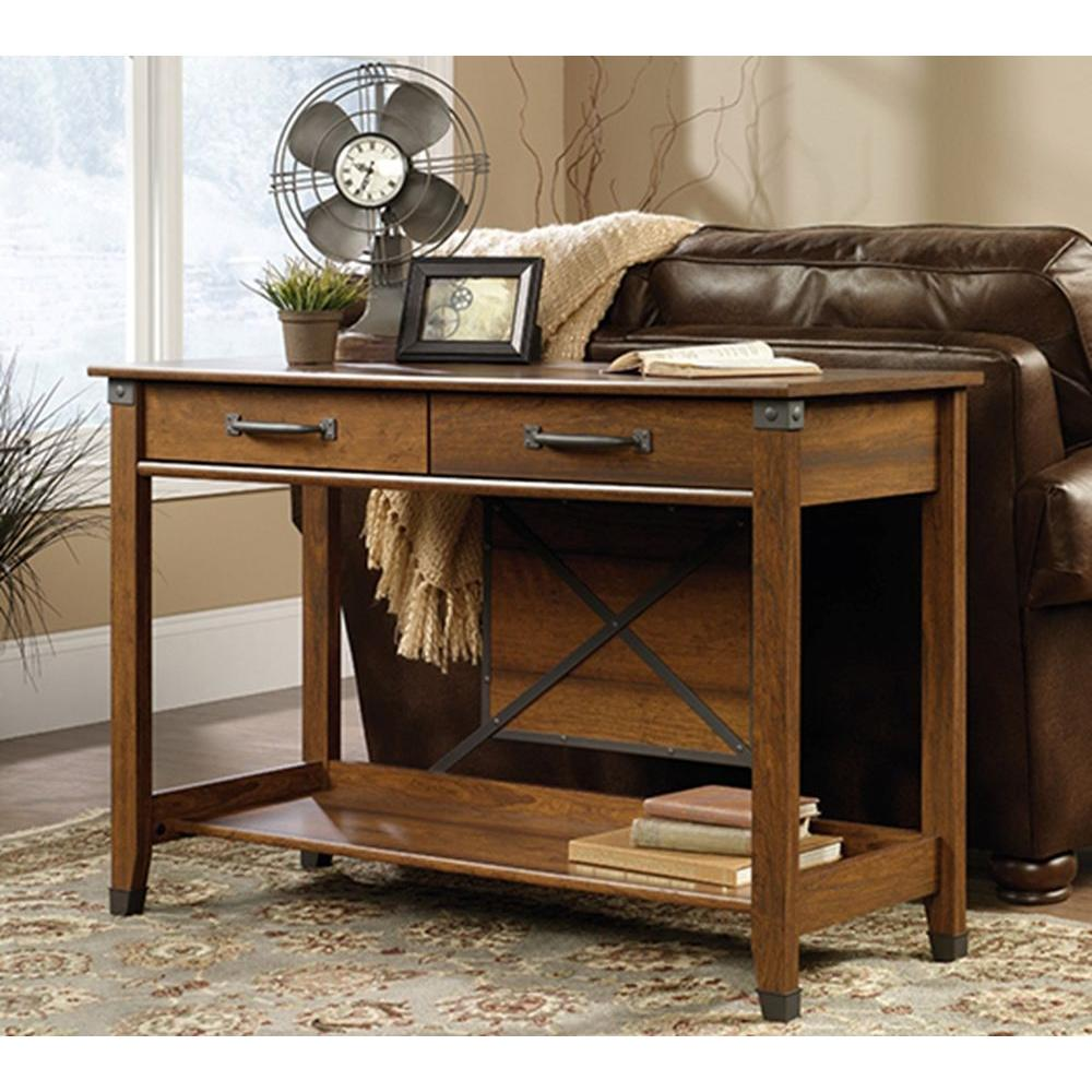 SAUDER Carson Forge Washington Cherry Storage Console Table-414443 ...