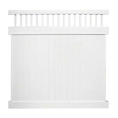 Mason 7 ft. H x 6 ft. W White Vinyl Privacy Fence Panel Kit