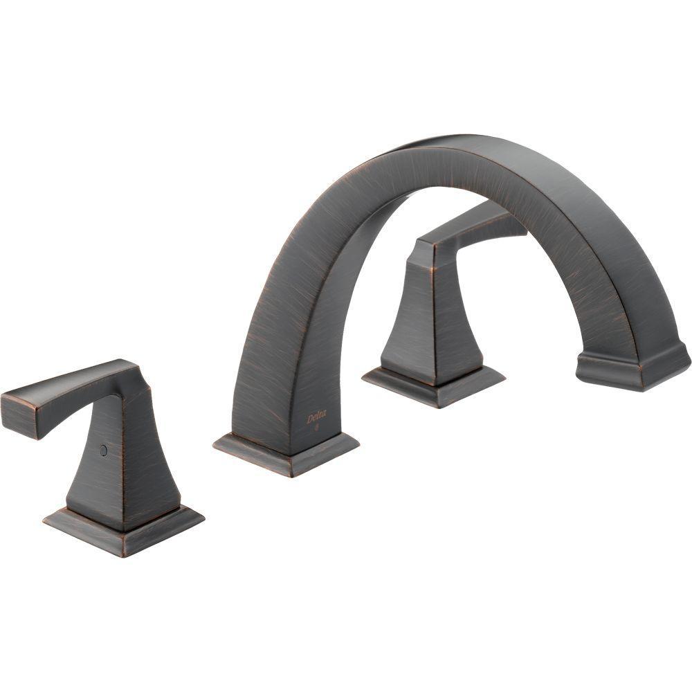 Dryden 2-Handle Deck-Mount Roman Tub Faucet Trim Kit Only in Venetian