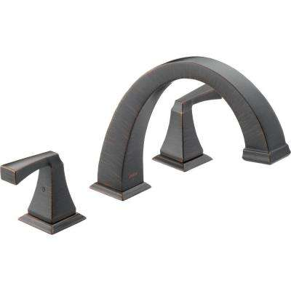 Dryden 2-Handle Deck-Mount Roman Tub Faucet Trim Kit Only in Venetian Bronze (Valve Not Included)