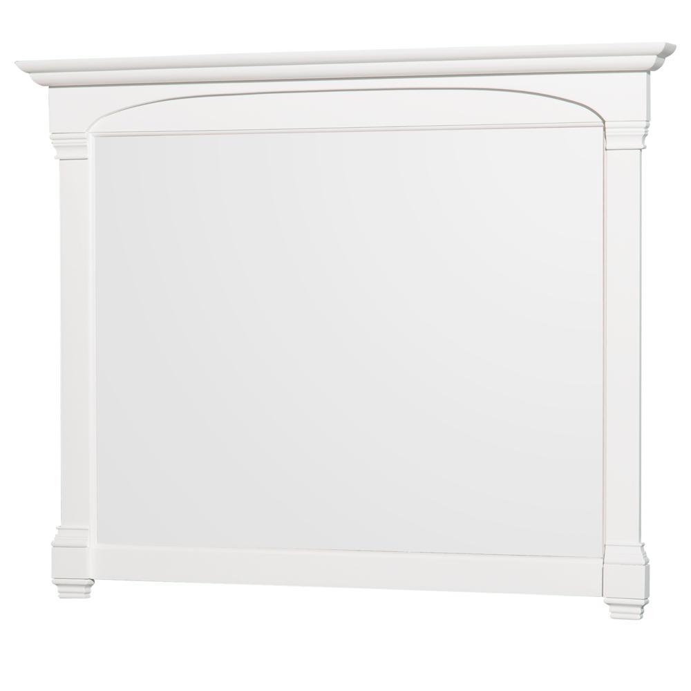 Andover 50 in. W x 41 in. H Framed Rectangular Bathroom Vanity Mirror in White