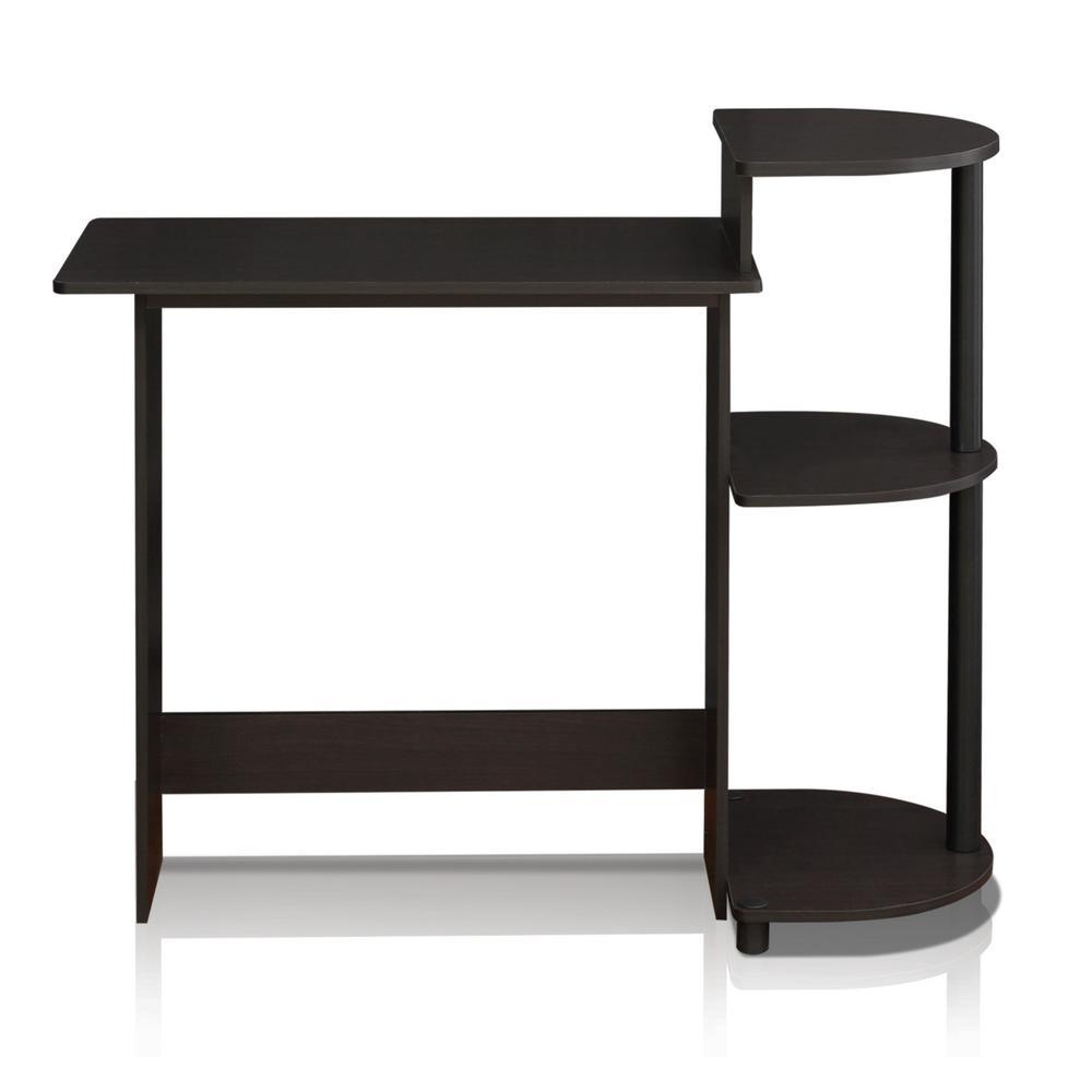 Compact Espresso/Black Computer Desk