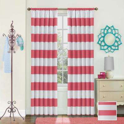 42 in. W x 84 in. L Peabody Blackout Polyester Window Curtain Panel in Peony