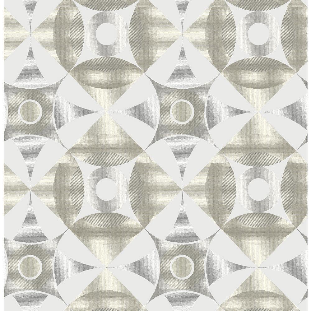 A-Street 8 in. x 10 in. Ellis Brown Geometric Wallpaper Sample